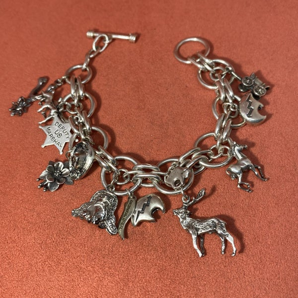 Vintage Cowboy Western Charm Bracelet