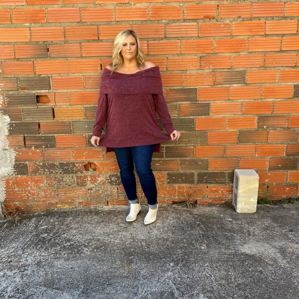 Knit Off The Shoulder Sweater