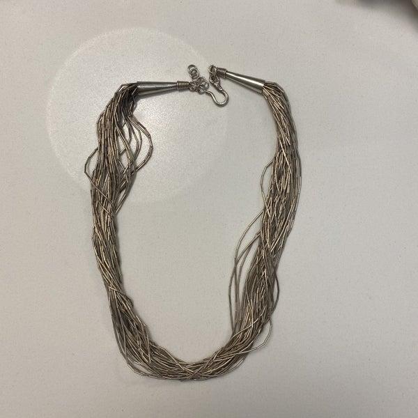 Vintage Liquid Silver Necklace