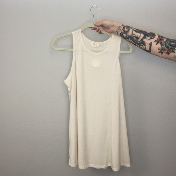 Not So Basic Rib Knit Flowy Tank Top