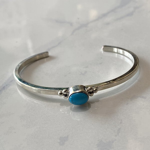 Dainty Turquoise Cuff Bracelet