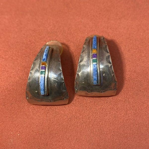 J. Velasquez Lapis Half Hoop Earrings