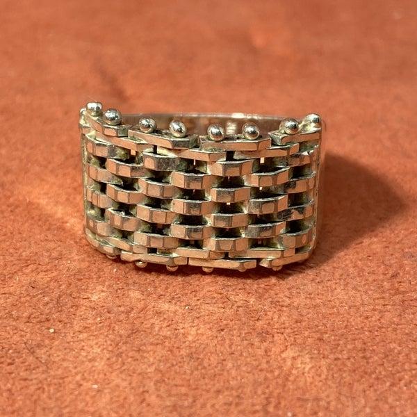 Silver Basket Weave Ring