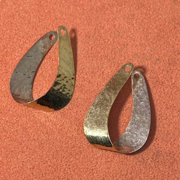 Retired James Avery Two-Tone Hammered Ear Jackets
