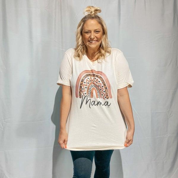 MAMA Rainbow Graphic T-Shirt