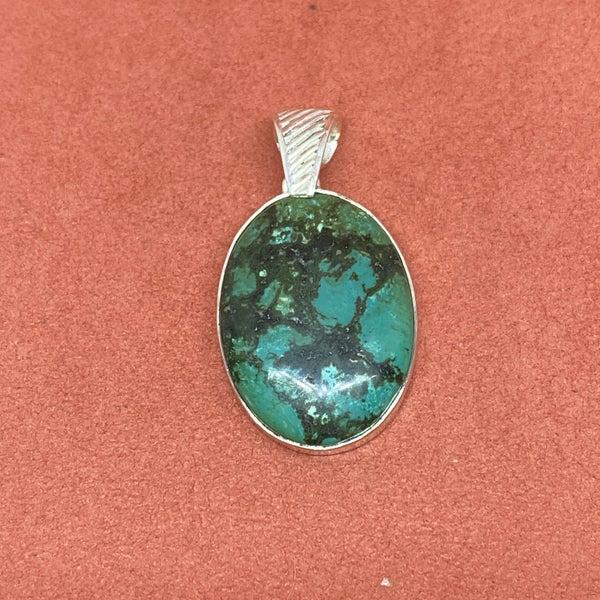 Oval Tibetian Turquoise Pendant