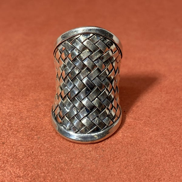 Basket Weave Adjustable Ring