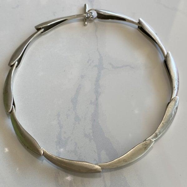 Lisa Jenks Brushed Silver Necklace