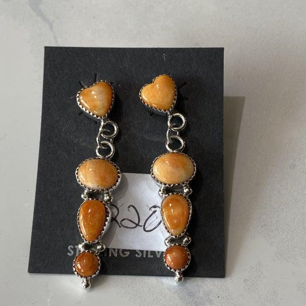 Spiny Oyster Heart Earrings
