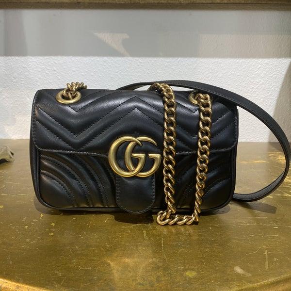 AUTHENTIC Gucci Mini Marmont Flap Bag