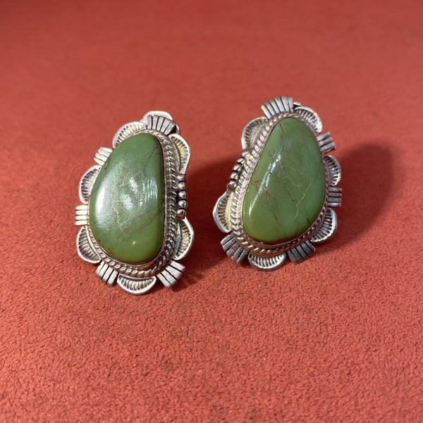 Bennie Ration Green Turquoise Earrings