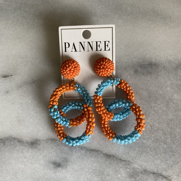 Link Up Beaded Chain Earrings