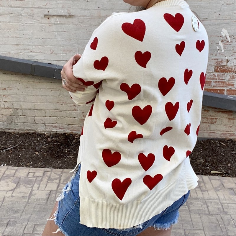Heartfully Yours Lightweight Sweater