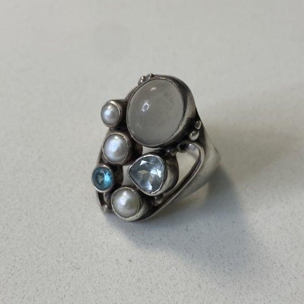 Beautiful Multi Stone Ring