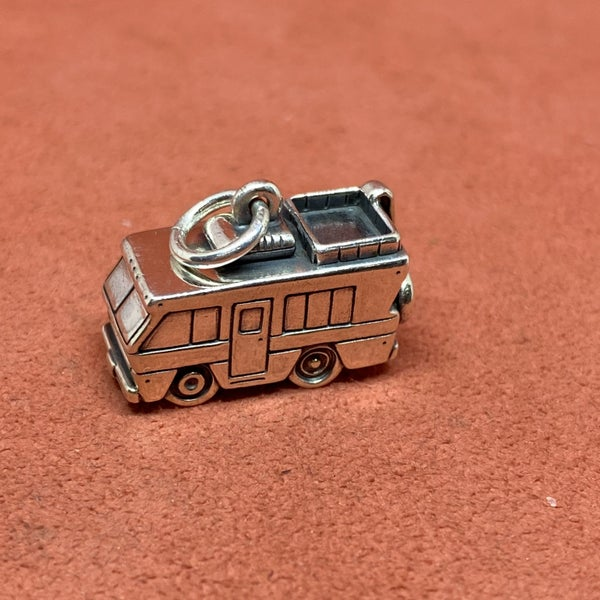 RARE Retired James Avery 3D Motorhome RV Charm