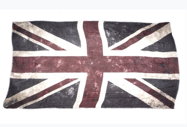 Union Jack Scarf (Crimson)