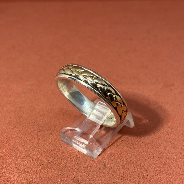 Retired James Avery Band w/ 14k Gold Woven Braid