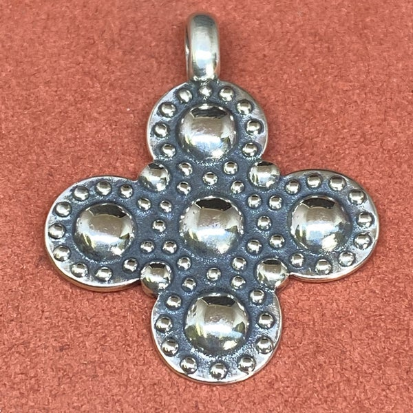 James Avery Greek Beaded Cross Pendant