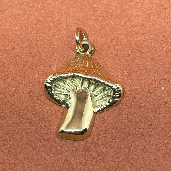 Rare James Avery Mushroom Charm 14k gold