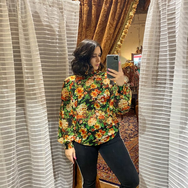Kim High Neck Floral Blouse