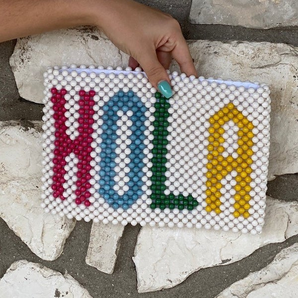 Hola Beaded Zip Pouch