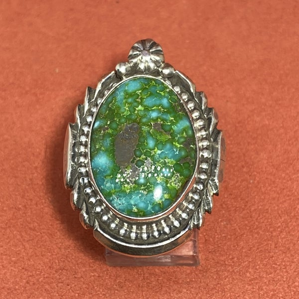 Sterling Silver Detail Ring w/ Turquoise