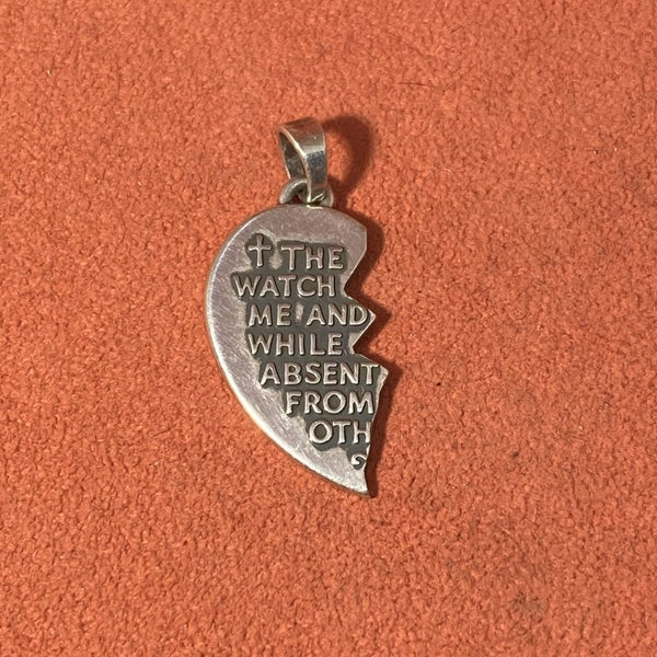 "James Avery  ""Watch Over Thee"" Prayer Pendant *Left Half Only*"