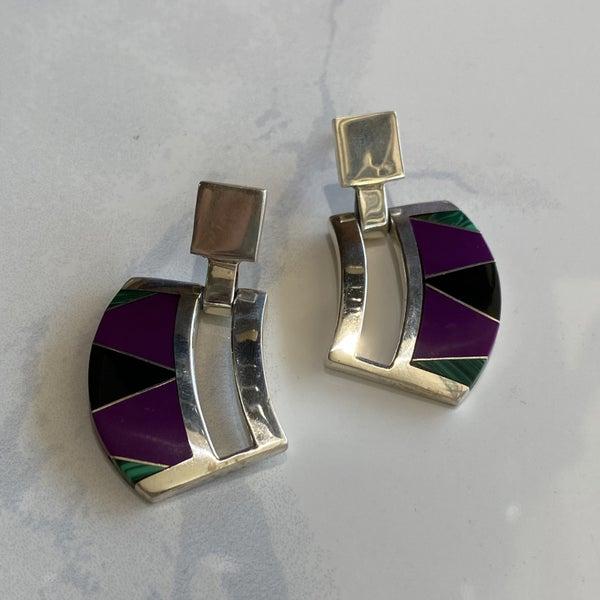 Funky Inlay Earrings