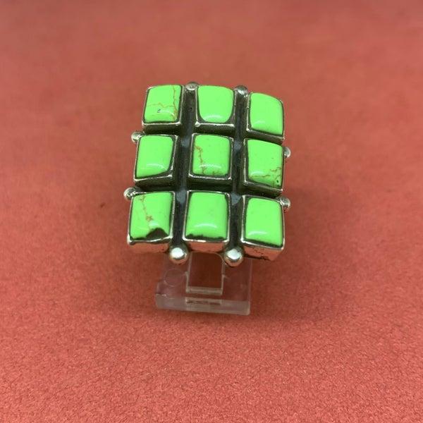 Green Multi Stone Ring