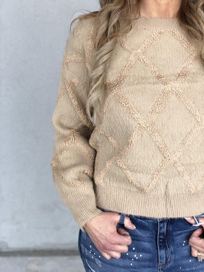 Teddy Bear Diamond Sweater