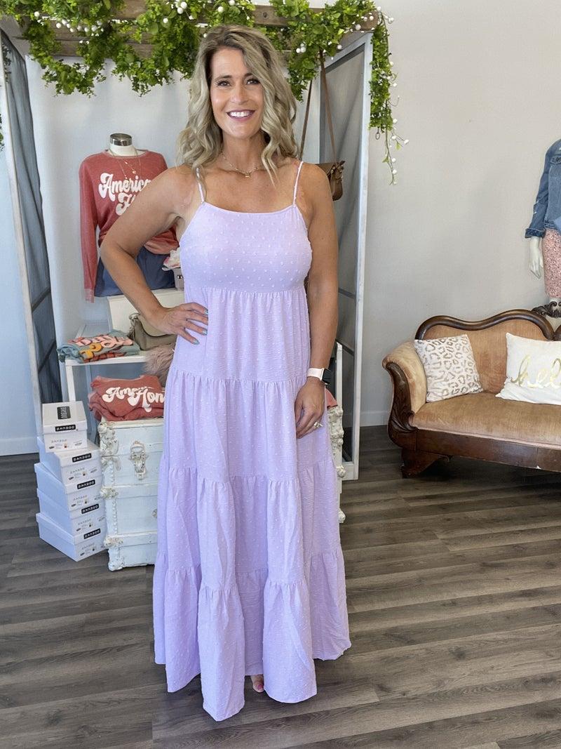 Lavender Fields Layered Maxi Dress