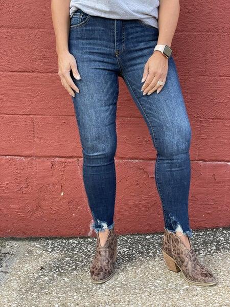 Risen Jayda Fray Hem Ankle Jean 38D