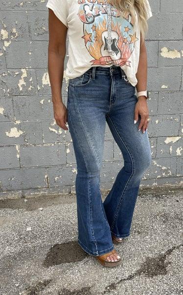KanCan Drew Slimming Seam High Rise Flare Jeans 97M
