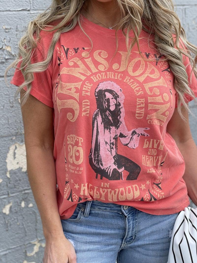 DayDreamer Janis Joplin In Hollywood Tour Tee