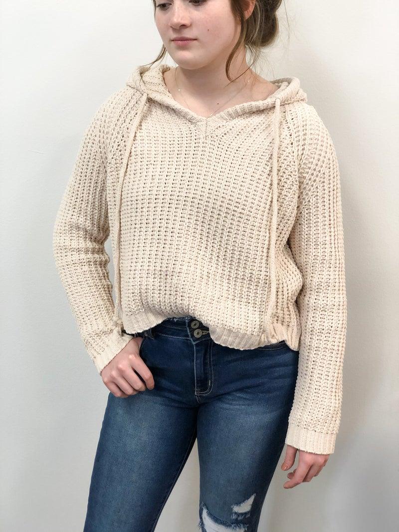 Ivory Eyes Sweater Hoodie