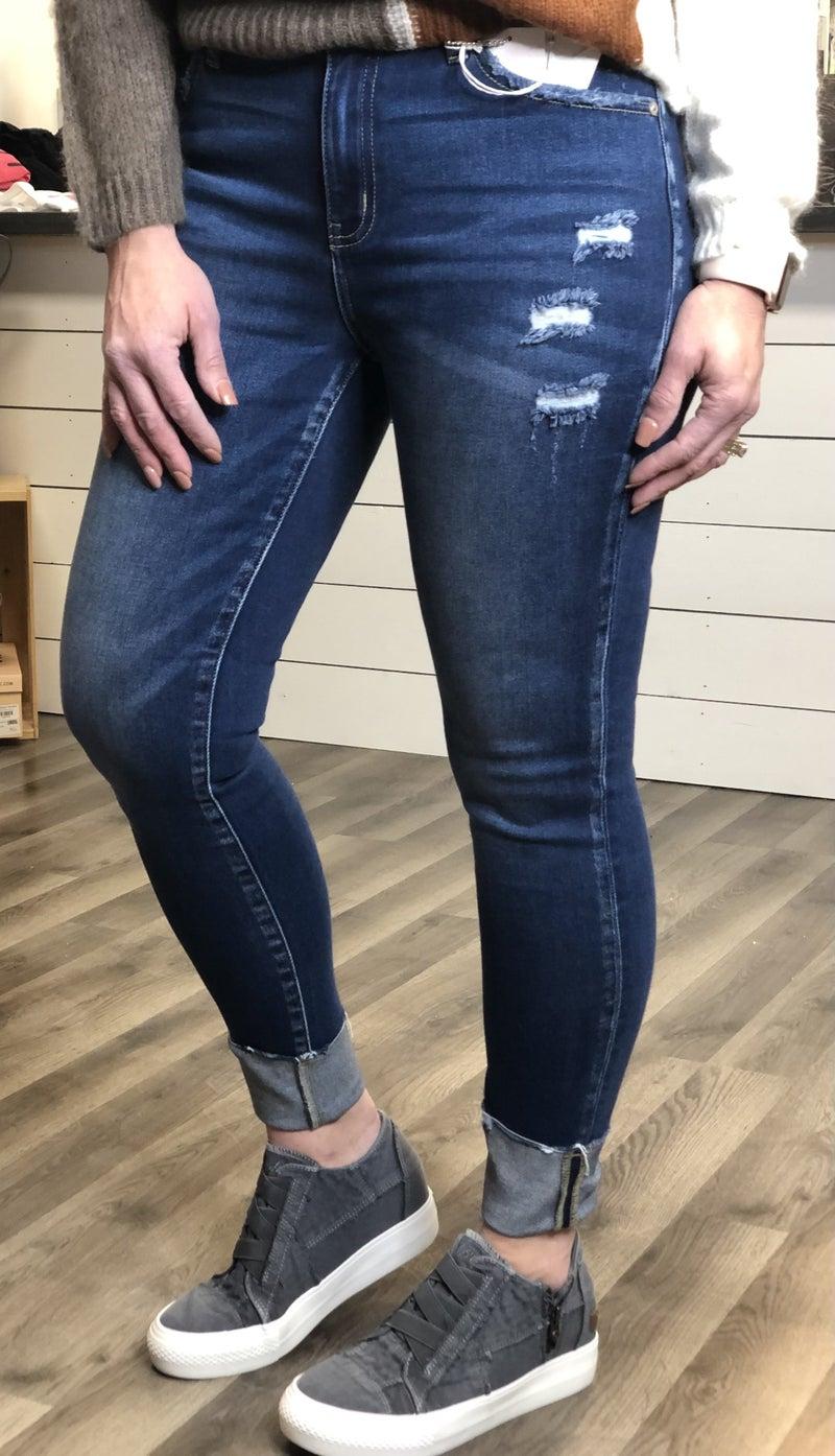 KanCan Penny Folded Hem Jeans 63D