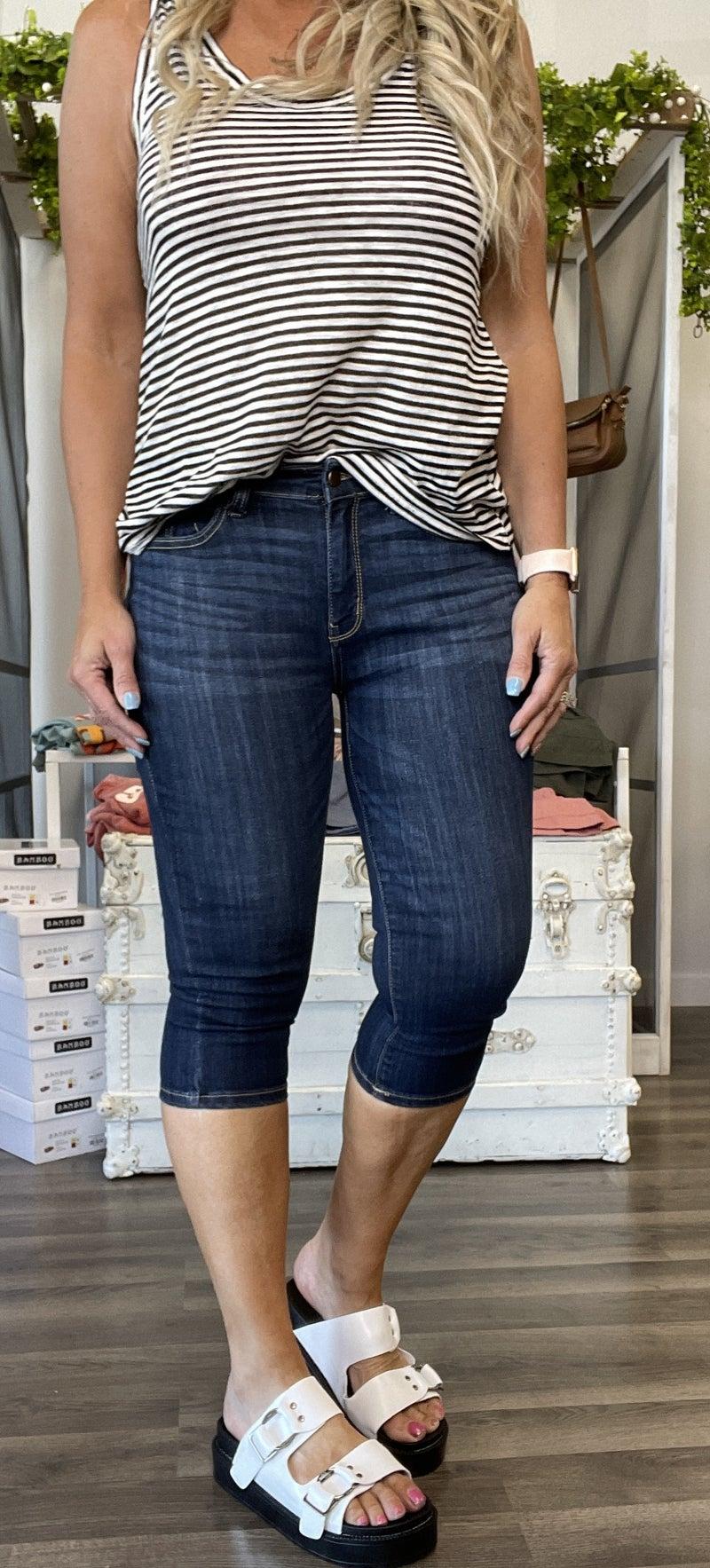 Judy Blue Jasper Mid-Rise Capri Jeans 91R