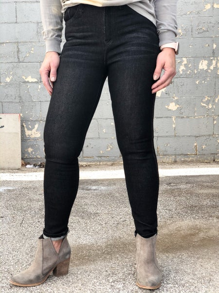 KanCan Heidi High Rise Black Jeans 42BK