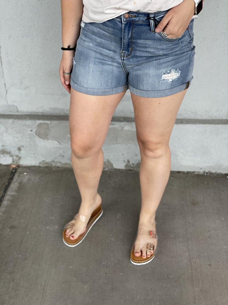 Judy Blue Cuffed Janie Shorts 04