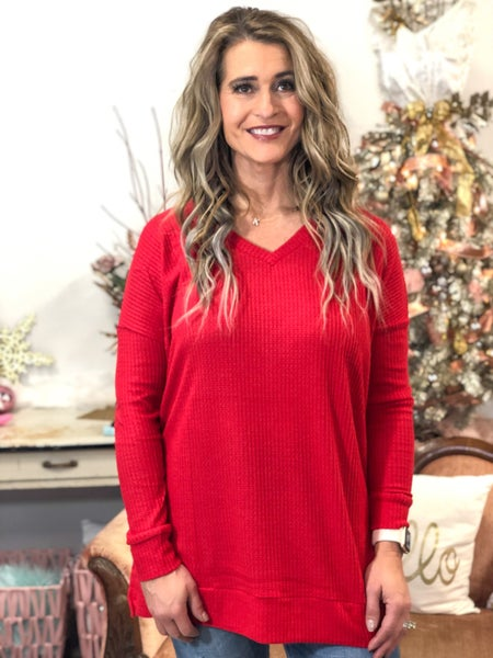Red Traveling Top *Final Sale*
