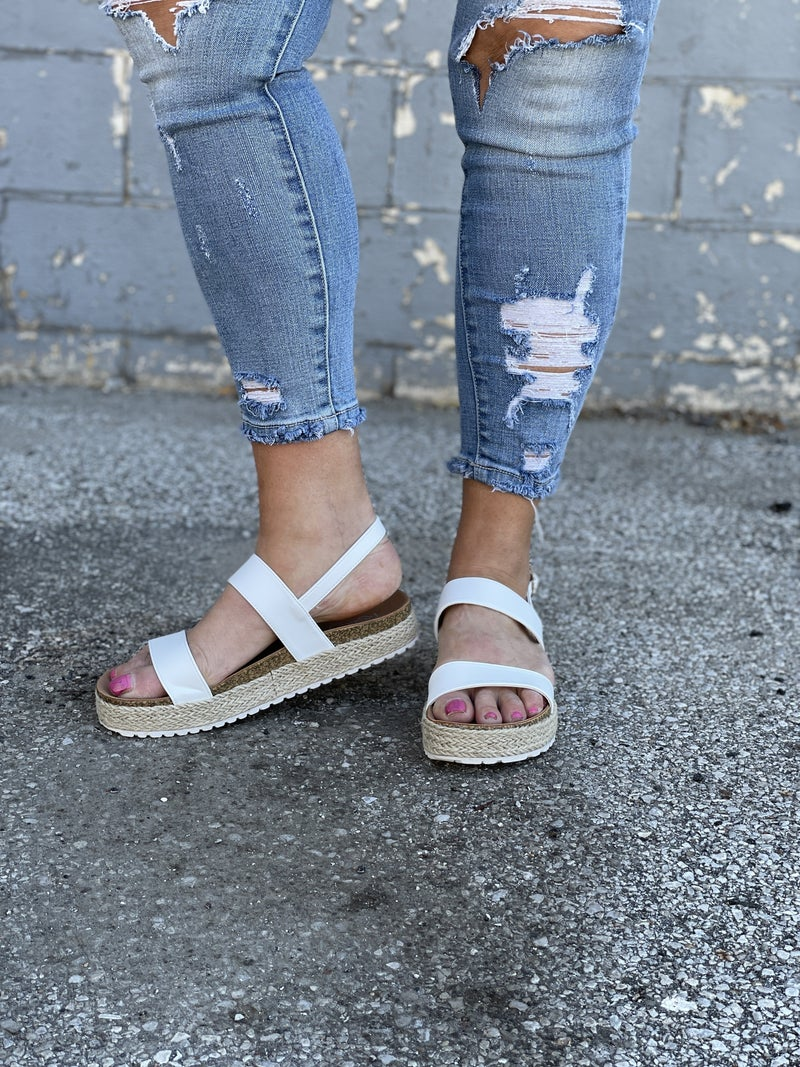 White Picket Fence Sandals