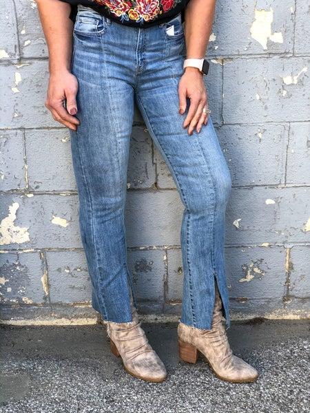 Front Slit Fray Flare H13 Jeans