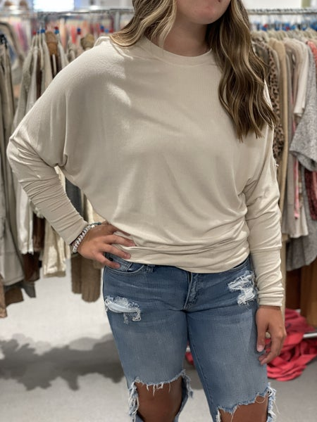Cozy In Love Oatmeal Pullover