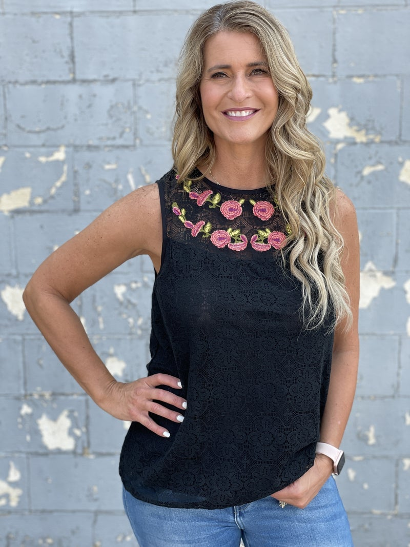 Floral Spectacular Sleeveless Top *Final Sale*