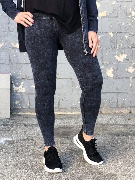 Mineral Wash Yoga Sapphire Leggings