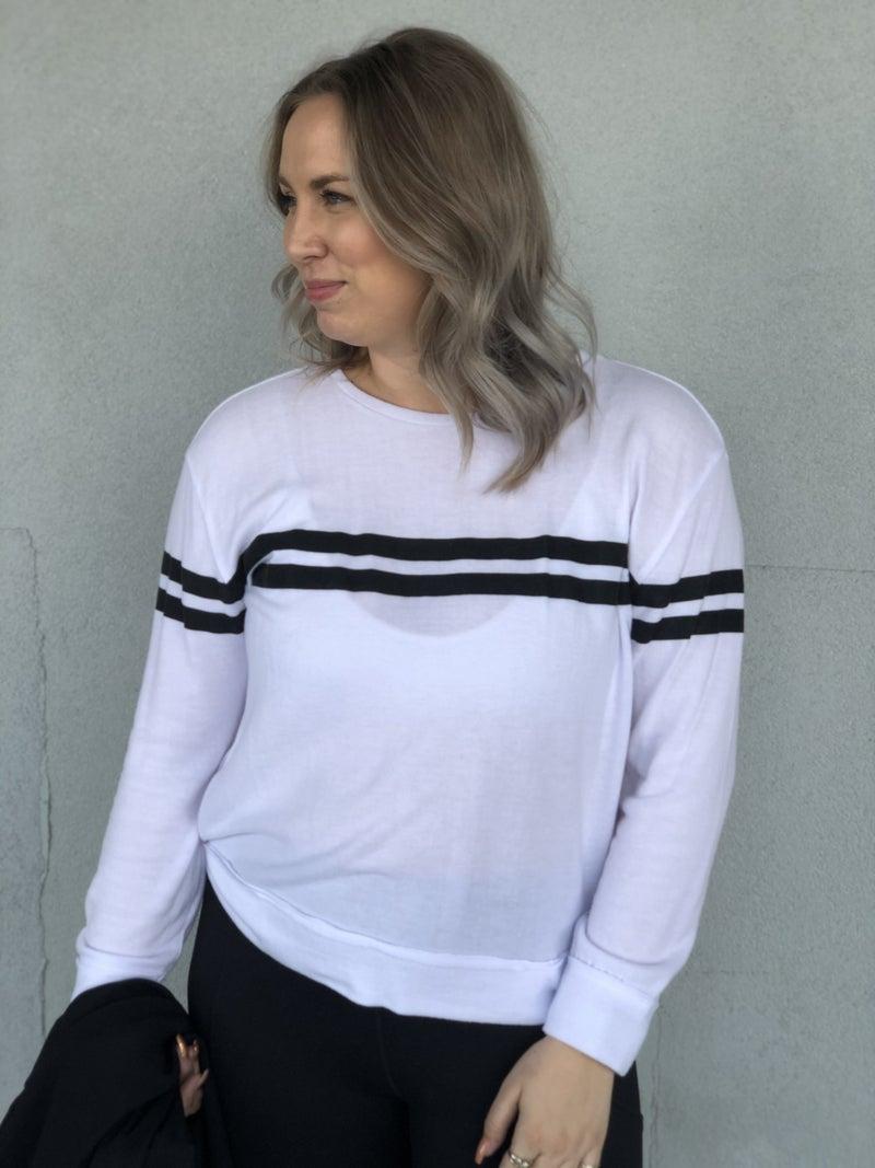 Nina Varsity Stripe Top