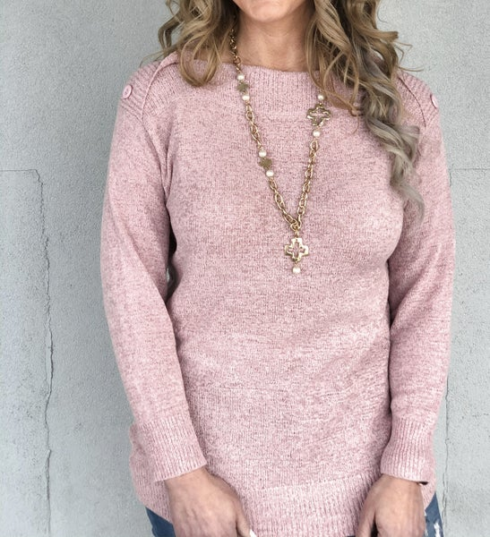 Mauve Mentions Sweater