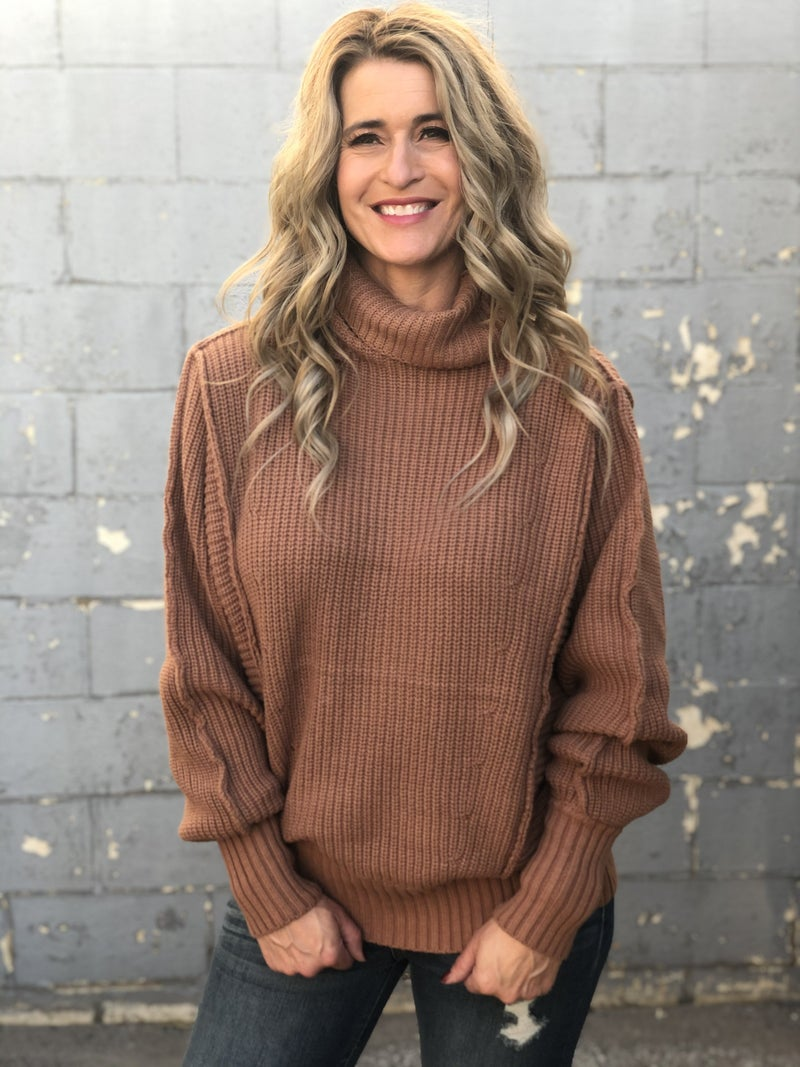 Simply Sweet Camel Sweater