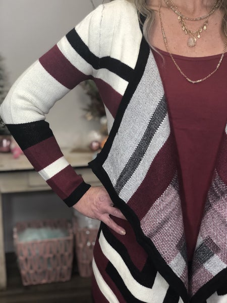 Lined Up Cardigan *Final Sale*