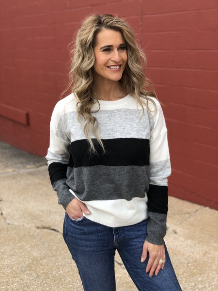 Faint Grey Lines Sweater